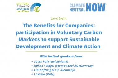 2. The Role of Carbon Markets in Support Sustainable Development and Climate Action – Experience from Germany_Meldungen