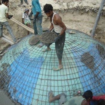 Nepal_Biogas_Bau der Anlage